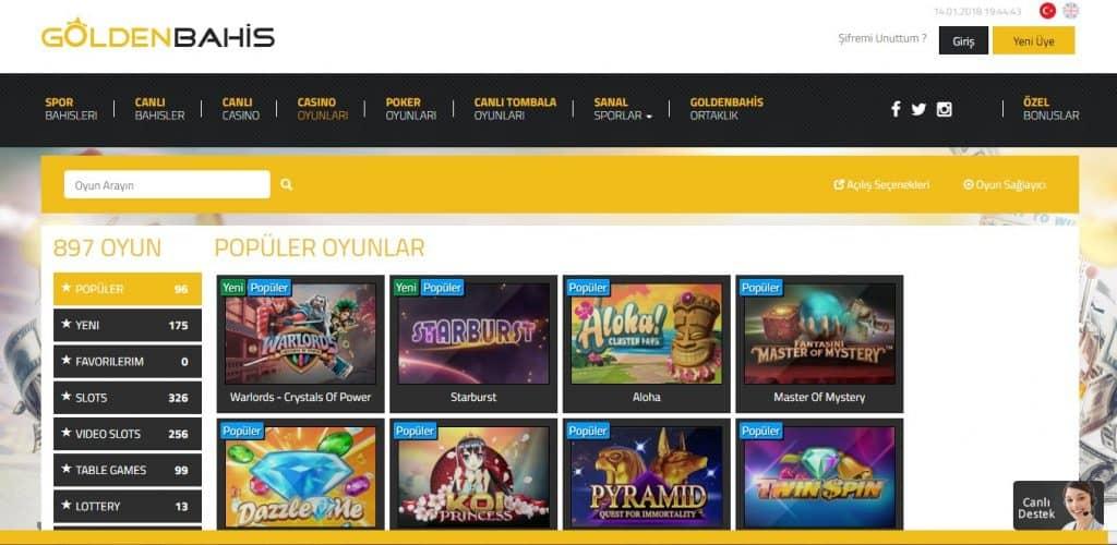En Çok Kazandıran Casino Oyunları Goldenbahiste