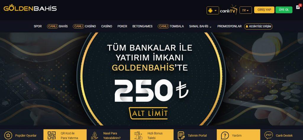 Goldenbahis Sitesi Bahis Seçenekleri