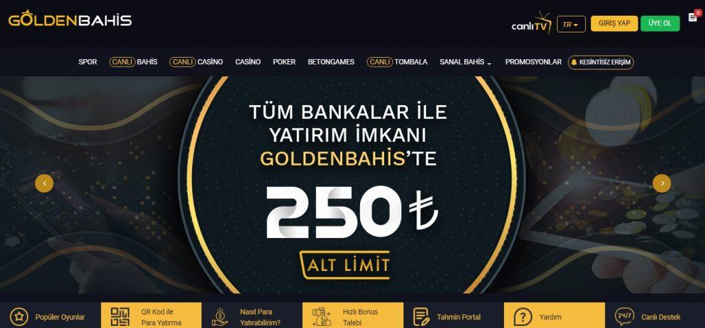 Goldenbahis Casino Seçenekleri