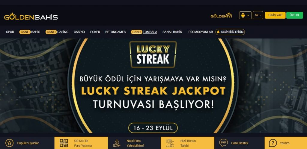 Goldenbahis Canlı Casino Sürekli Hizmet Vermekte Midir